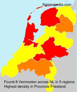 Familiennamen Vermooten - Netherlands