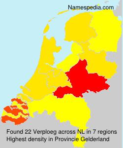 Surname Verploeg in Netherlands