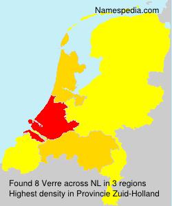Surname Verre in Netherlands