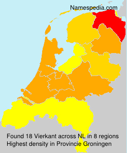 Familiennamen Vierkant - Netherlands