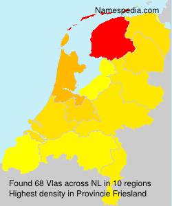 Surname Vlas in Netherlands