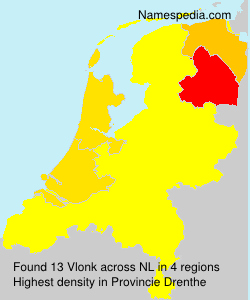 Surname Vlonk in Netherlands