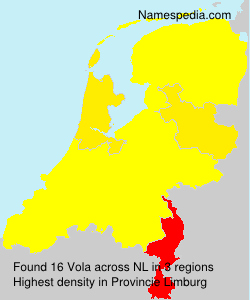 Surname Vola in Netherlands