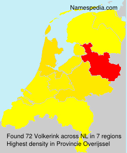 Surname Volkerink in Netherlands