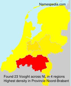 Surname Vooght in Netherlands