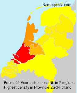 Surname Voorbach in Netherlands
