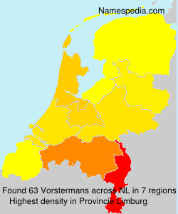 Familiennamen Vorstermans - Netherlands