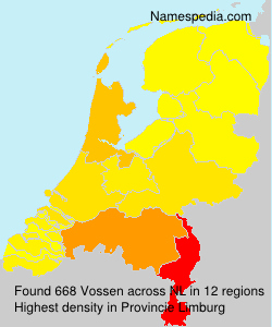 Surname Vossen in Netherlands