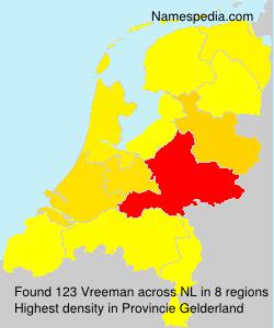 Surname Vreeman in Netherlands