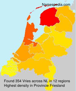 Surname Vries in Netherlands