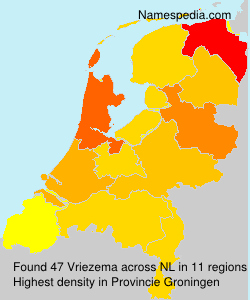 Surname Vriezema in Netherlands