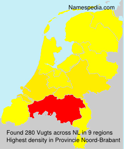 Surname Vugts in Netherlands