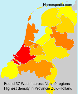 Surname Wacht in Netherlands