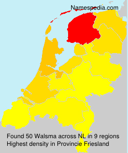 Surname Walsma in Netherlands