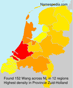 Surname Wang in Netherlands