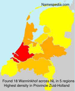 Surname Wanninkhof in Netherlands