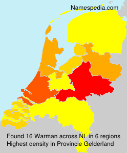Surname Warman in Netherlands