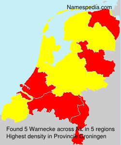 Surname Warnecke in Netherlands