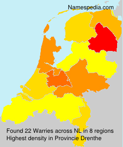 Surname Warries in Netherlands