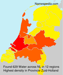 Surname Water in Netherlands