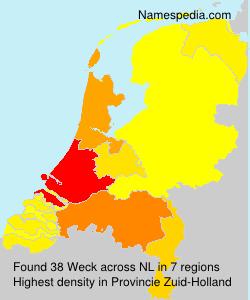 Surname Weck in Netherlands