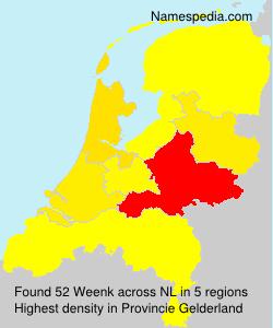 Familiennamen Weenk - Netherlands