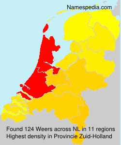 Surname Weers in Netherlands