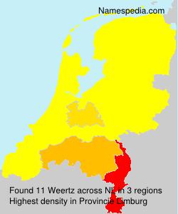 Familiennamen Weertz - Netherlands