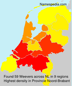 Surname Weevers in Netherlands