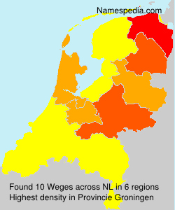 Surname Weges in Netherlands