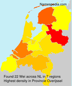 Surname Wei in Netherlands