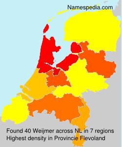 Familiennamen Weijmer - Netherlands