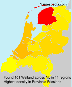 Surname Weiland in Netherlands