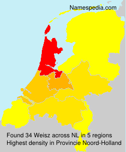 Surname Weisz in Netherlands
