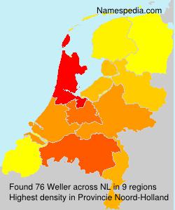 Surname Weller in Netherlands