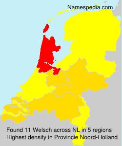 Familiennamen Welsch - Netherlands