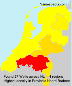 Surname Welte in Netherlands