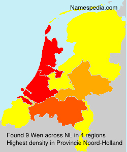 Familiennamen Wen - Netherlands