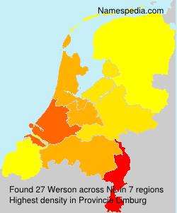 Surname Werson in Netherlands