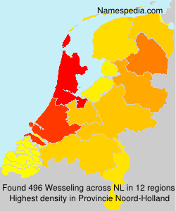 Surname Wesseling in Netherlands