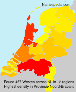 Surname Westen in Netherlands