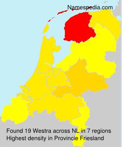 Surname Westra in Netherlands