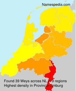 Surname Weys in Netherlands