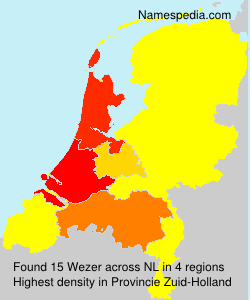 Surname Wezer in Netherlands