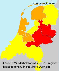 Surname Wiederhold in Netherlands