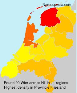 Familiennamen Wier - Netherlands