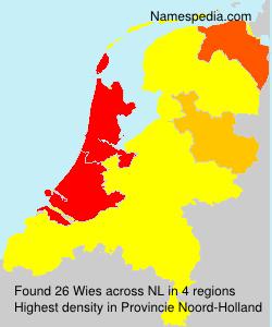 Familiennamen Wies - Netherlands