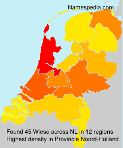 Surname Wiese in Netherlands