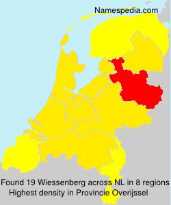 Surname Wiessenberg in Netherlands