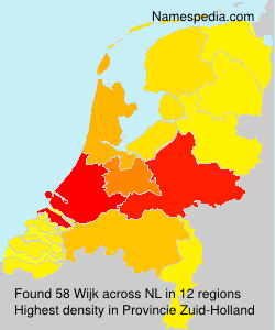 Surname Wijk in Netherlands